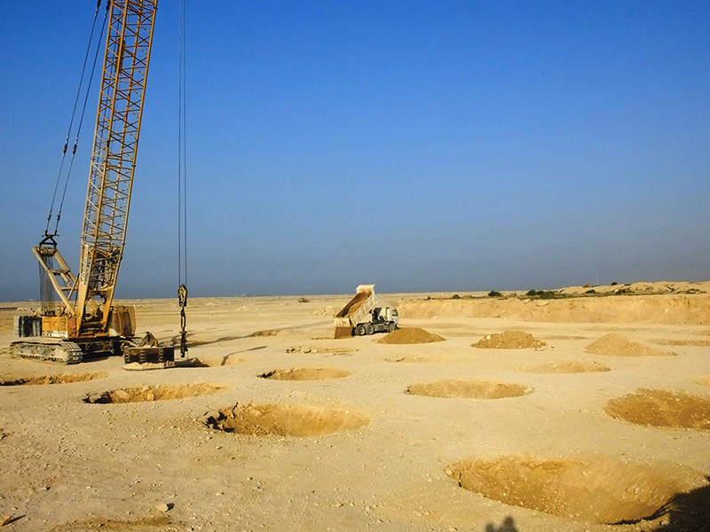 Hormoz Petrochemical Company Land Reclamation and Ground Improvement